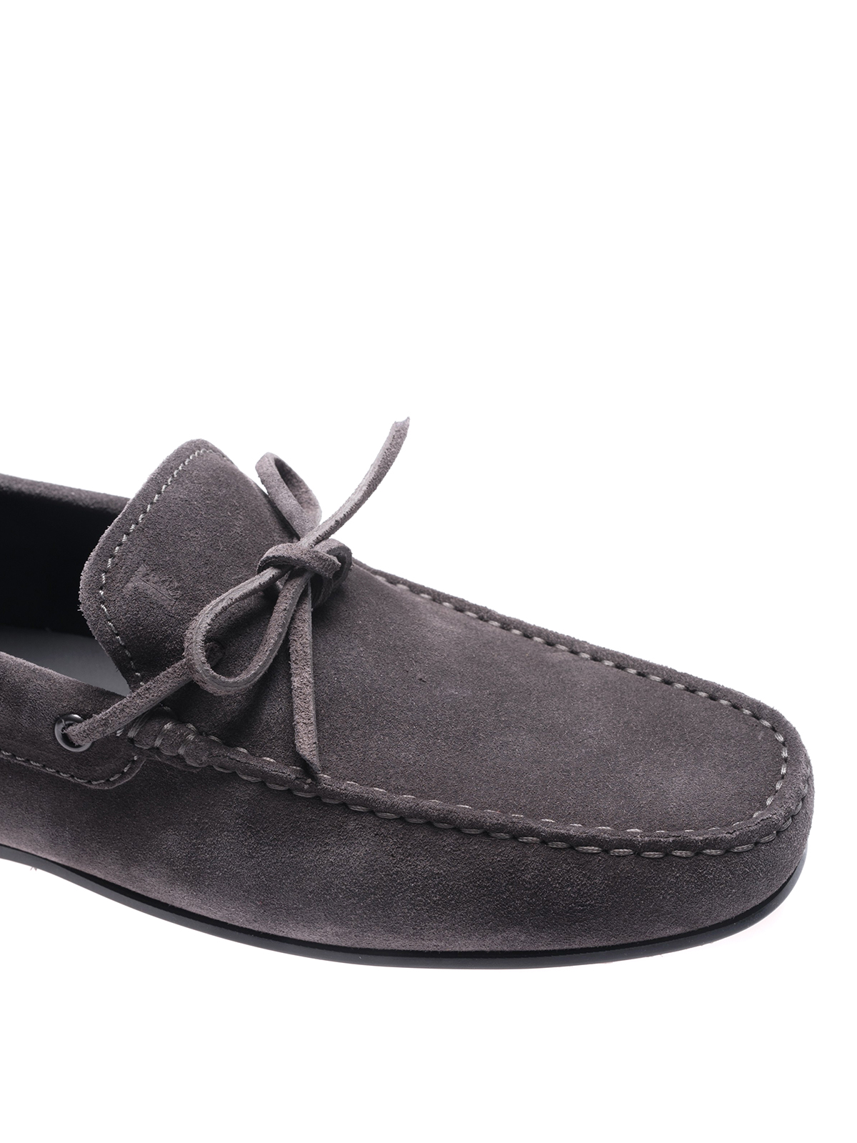 b06962a6327 Tod S - City Gommino ash grey suede loafers - Loafers   Slippers ...