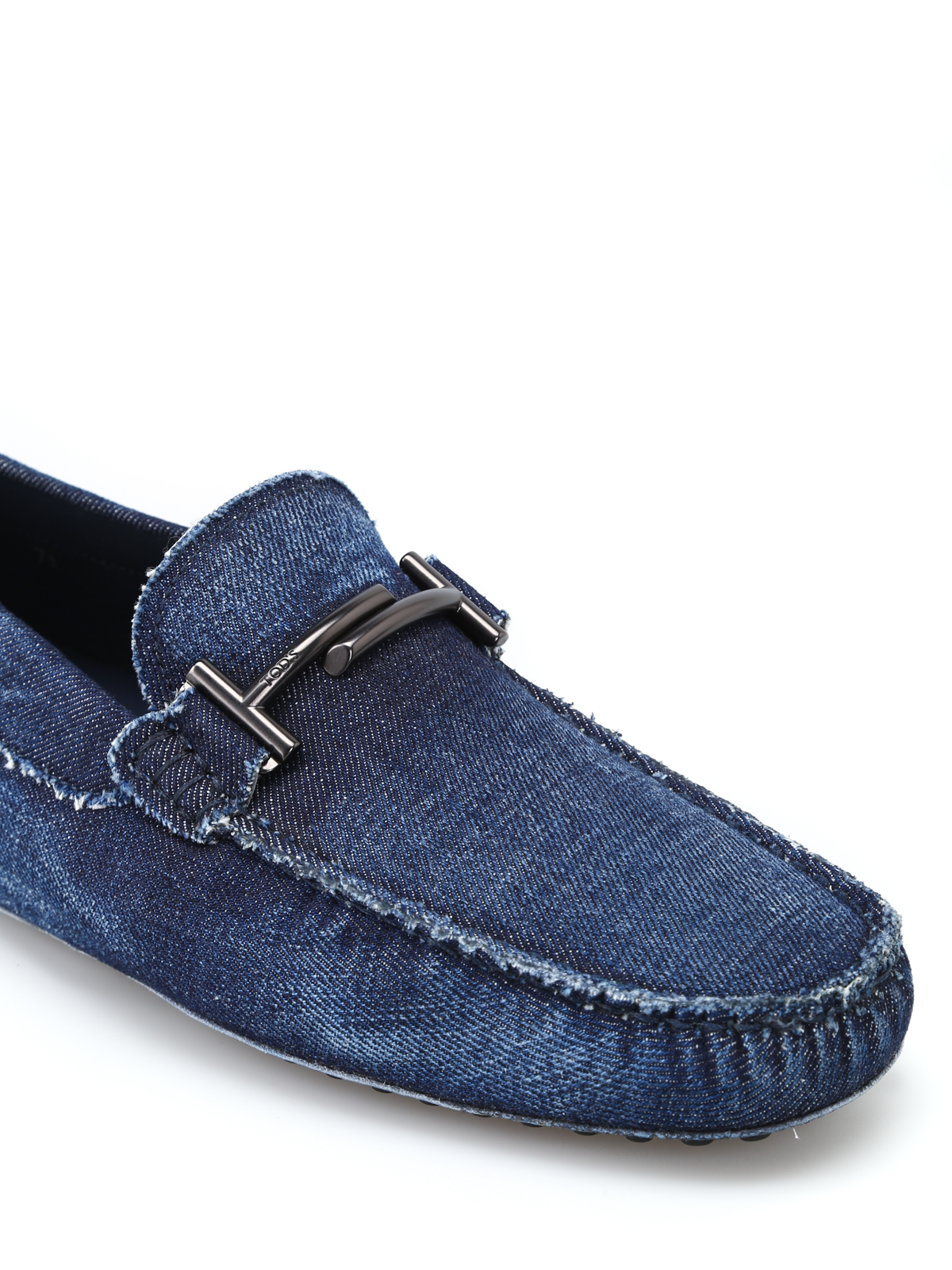 Tod's Denim logo loafers NMDhVcXd
