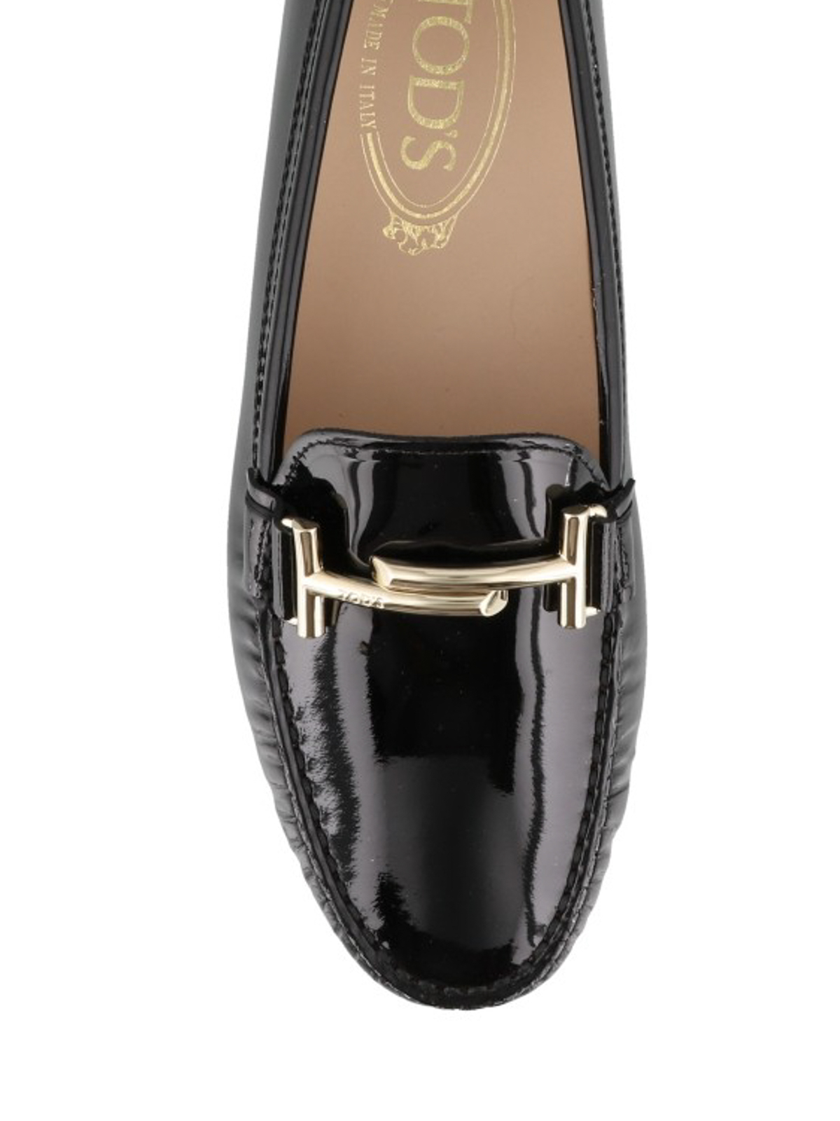 f3421484dd239 Tod'S - Double T Gommino patent leather driving shoes - Loafers ...