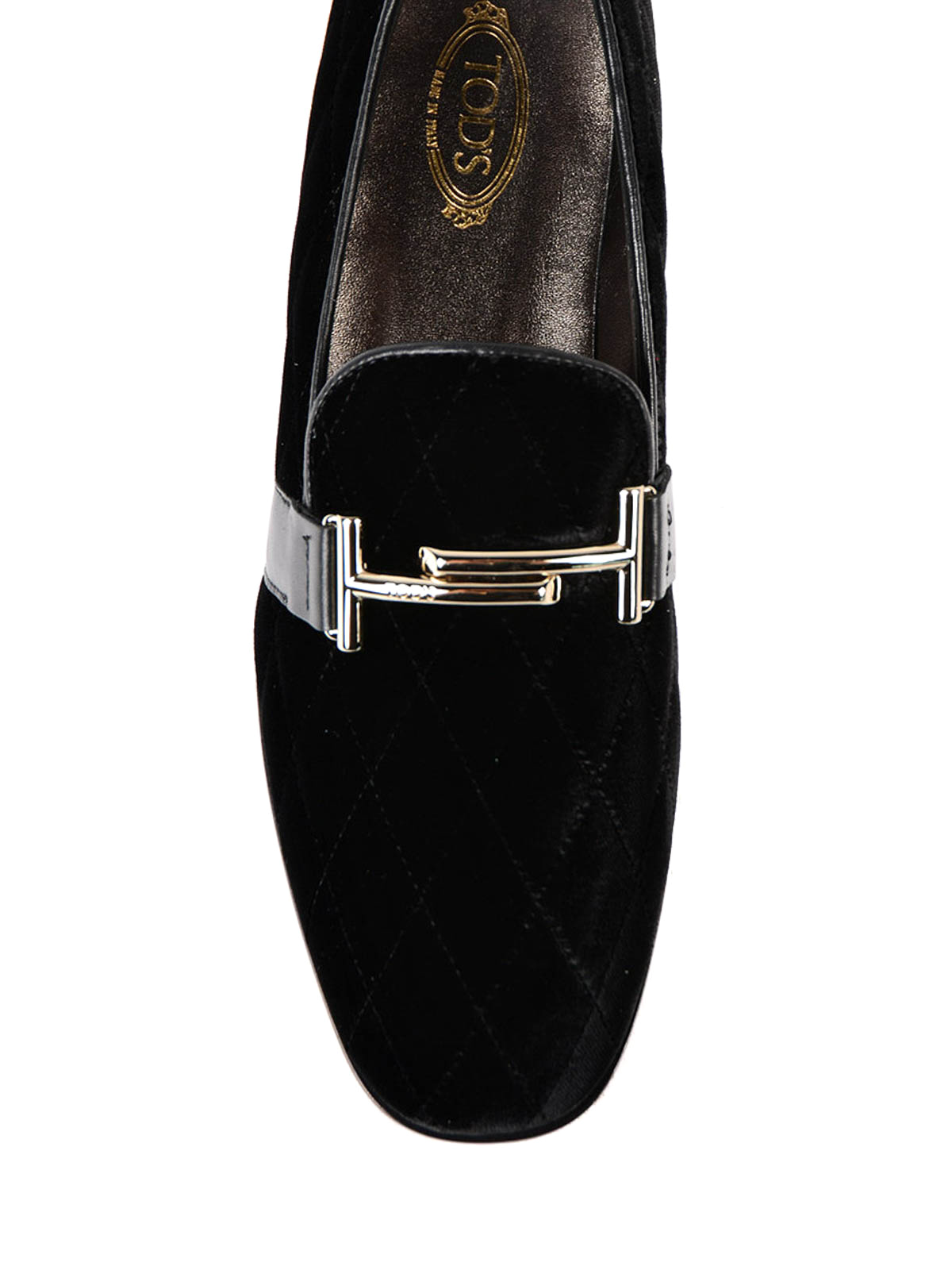 56588307283 Tod S - Double T quilted velvet loafers - Loafers   Slippers ...