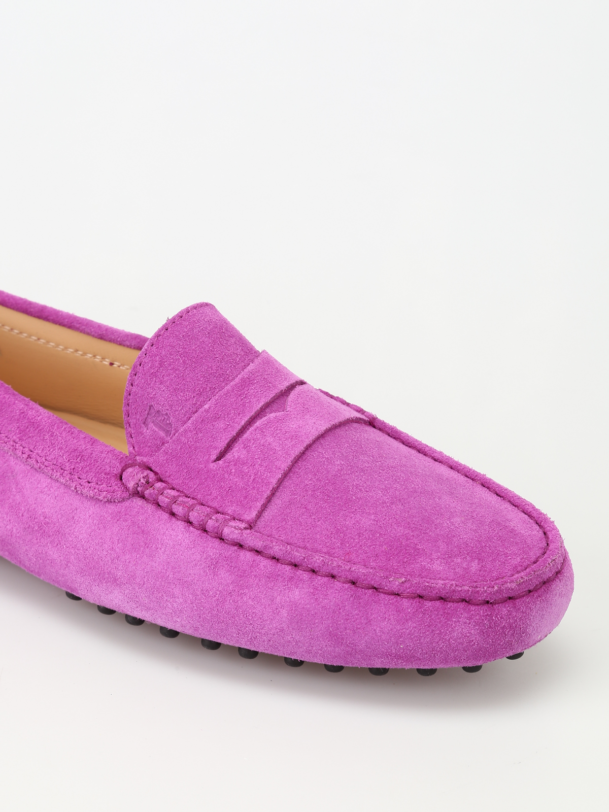 96fef11ed2f Tod'S - Gommino violet suede driving shoes - Loafers & Slippers ...