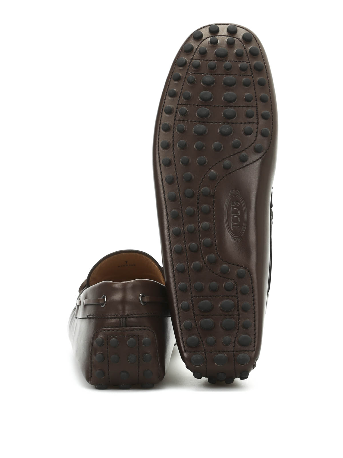 90ebe1529f0 Tod S - Leather loafers with laces - Loafers   Slippers ...