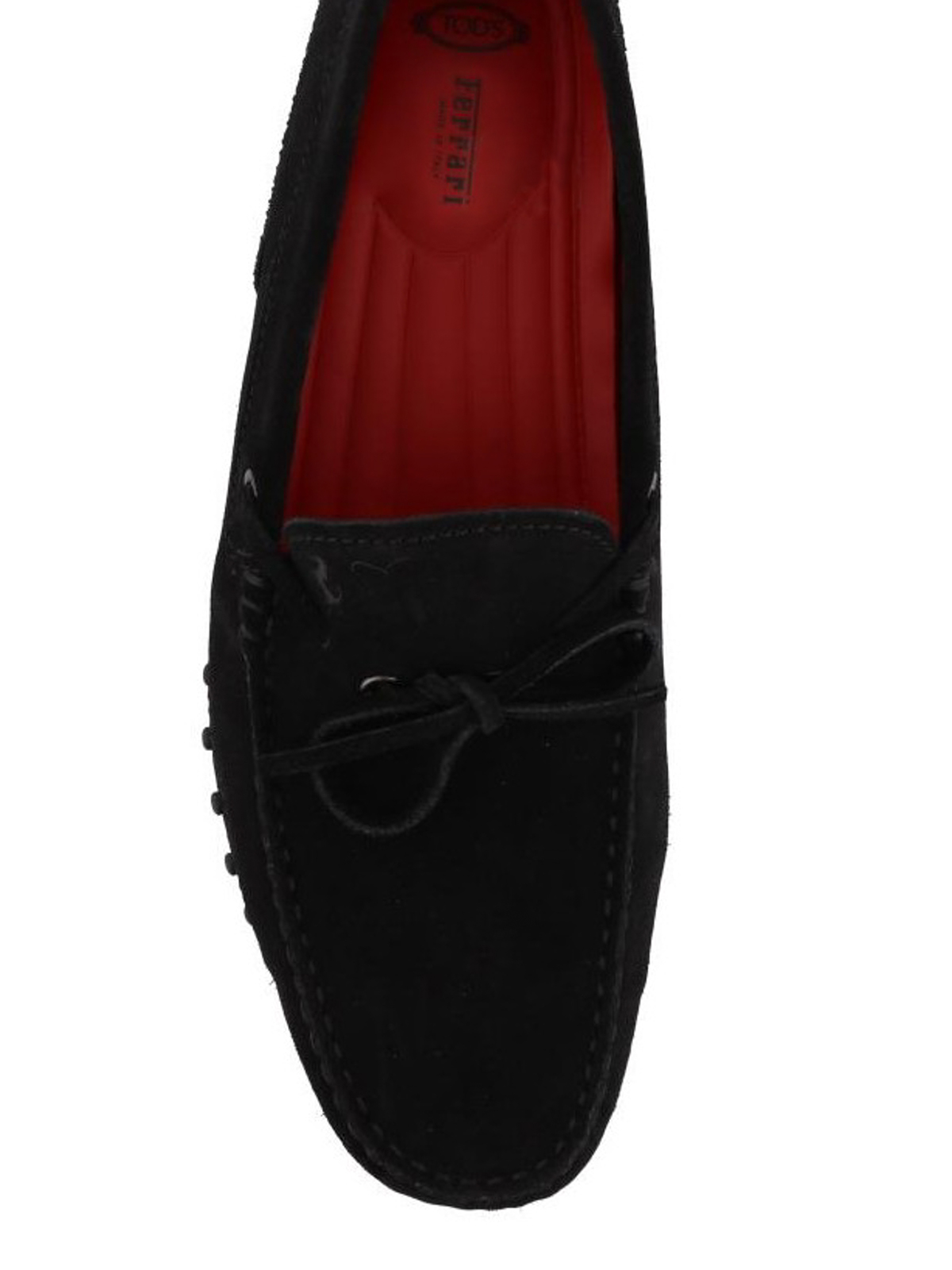 sale retailer 3adf9 45795 Tod'S - Tod's for Ferrari black suede loafers - Loafers ...