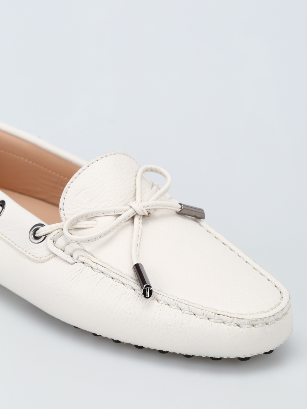 c6fca984504 Tod S - White grained leather loafers - Loafers   Slippers ...