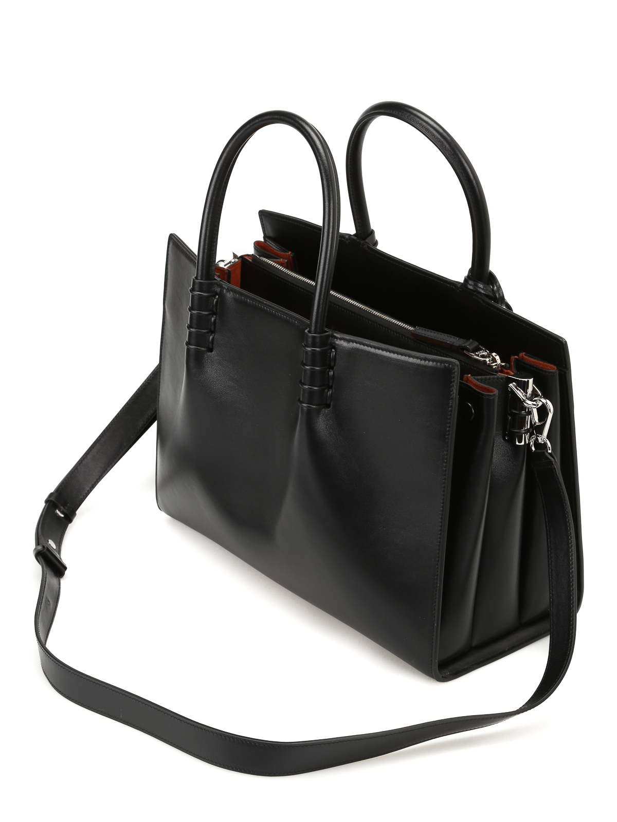 Tod's Accordion sides leather tote PxigOk8ow