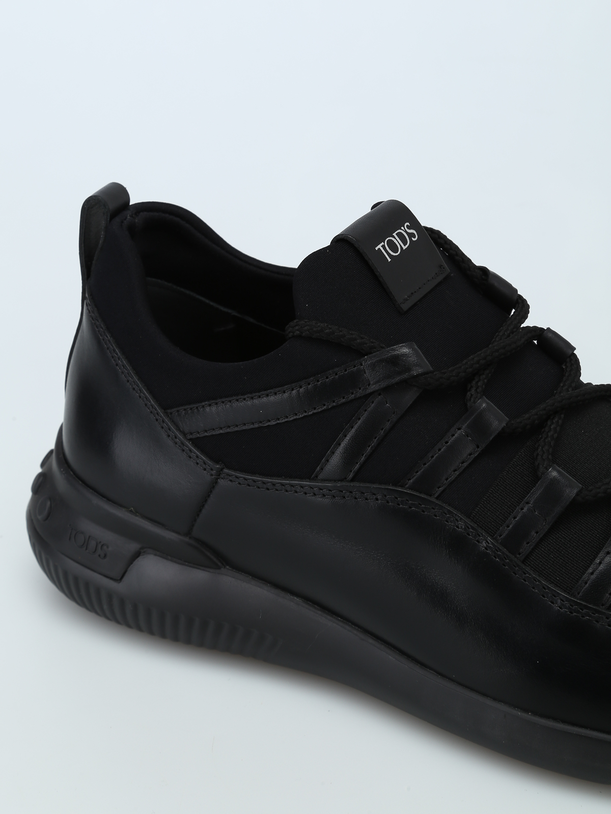 6d33d5397e98ea Tod S - No-Code leather and scuba effect sneakers - trainers ...