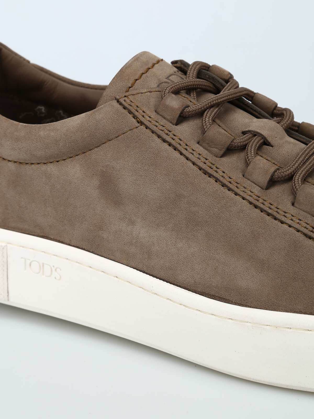 2b8f5d0fda Tod'S - Nut brown nubuck sneakers - trainers - XXM56A0V4305IPC407