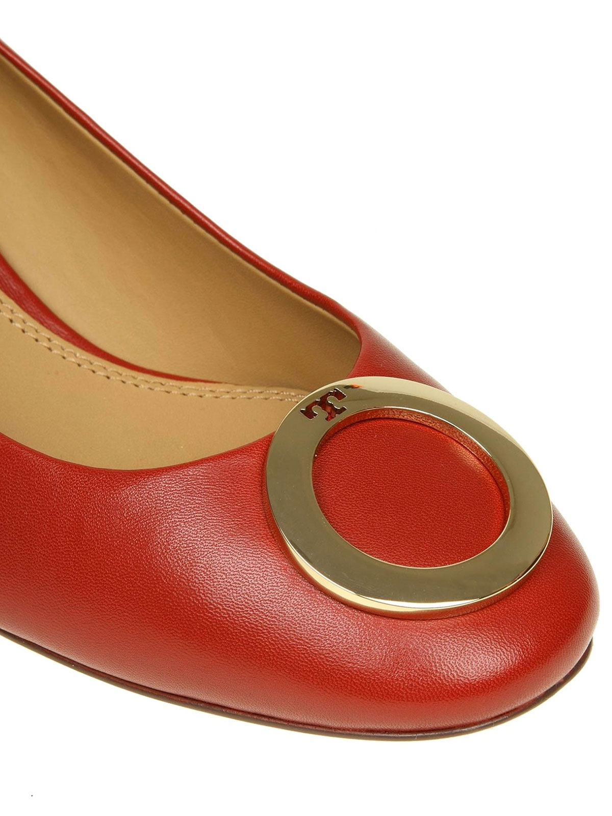 b3f1b6619d2d iKRIX TORY BURCH  court shoes - Caterina metal logo detailed leather pumps