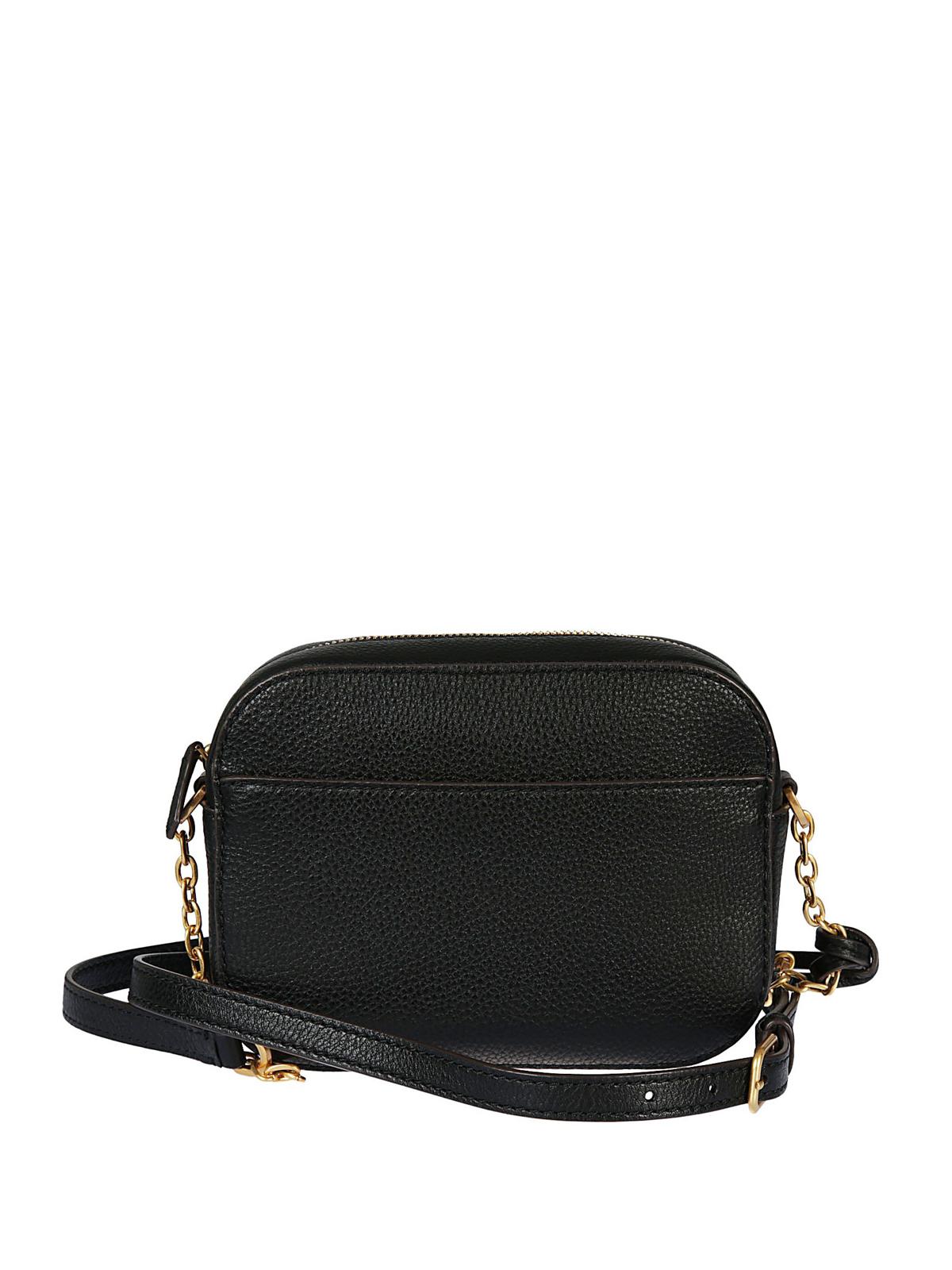 Tory Burch Mcgraw Black Leather Cross Body Bag Bags Adjustable Chain Ikrix