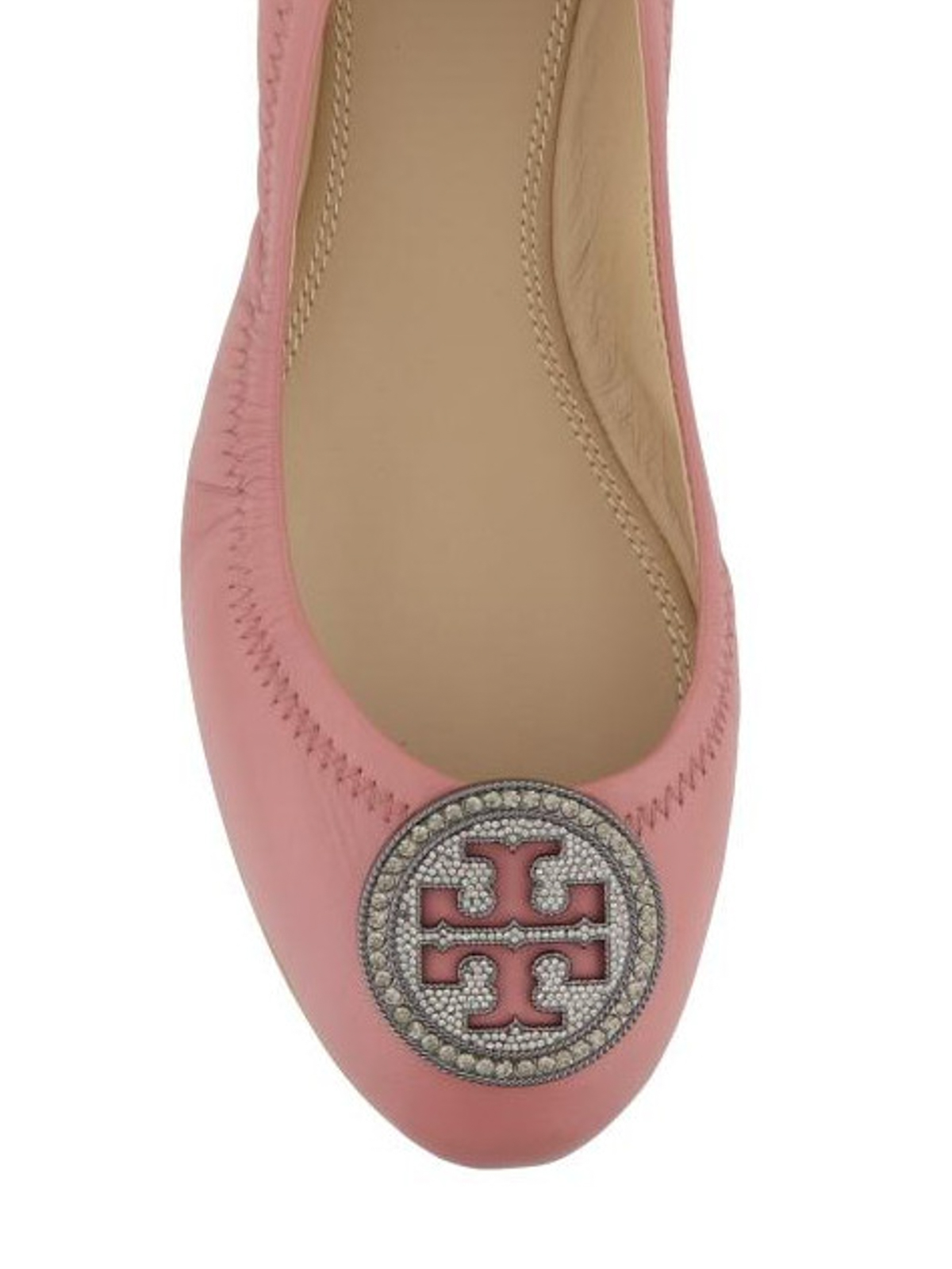 d4bb3e2caf72 Tory Burch - Liana pink leather flat shoes - flat shoes - 46084 651