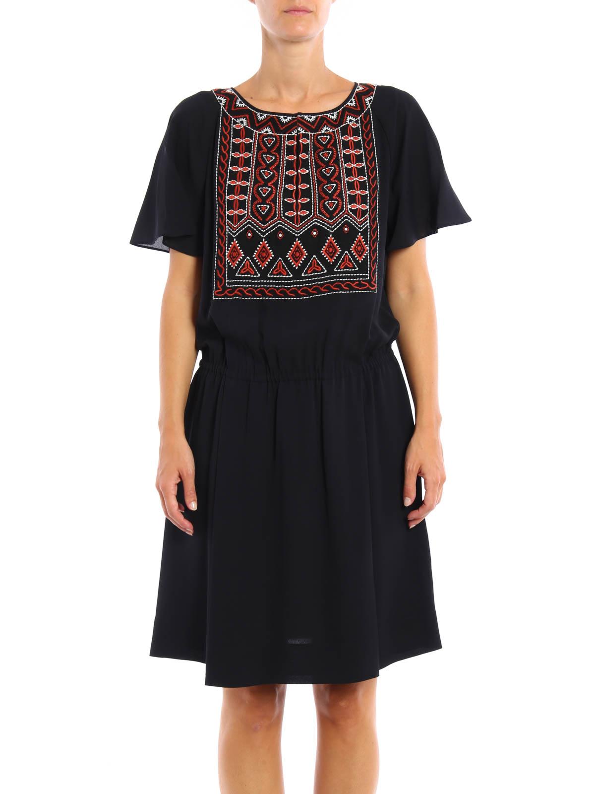 24d35bd1ef6 iKRIX TORY BURCH  knee length dresses - Bristol embroidered silk dress