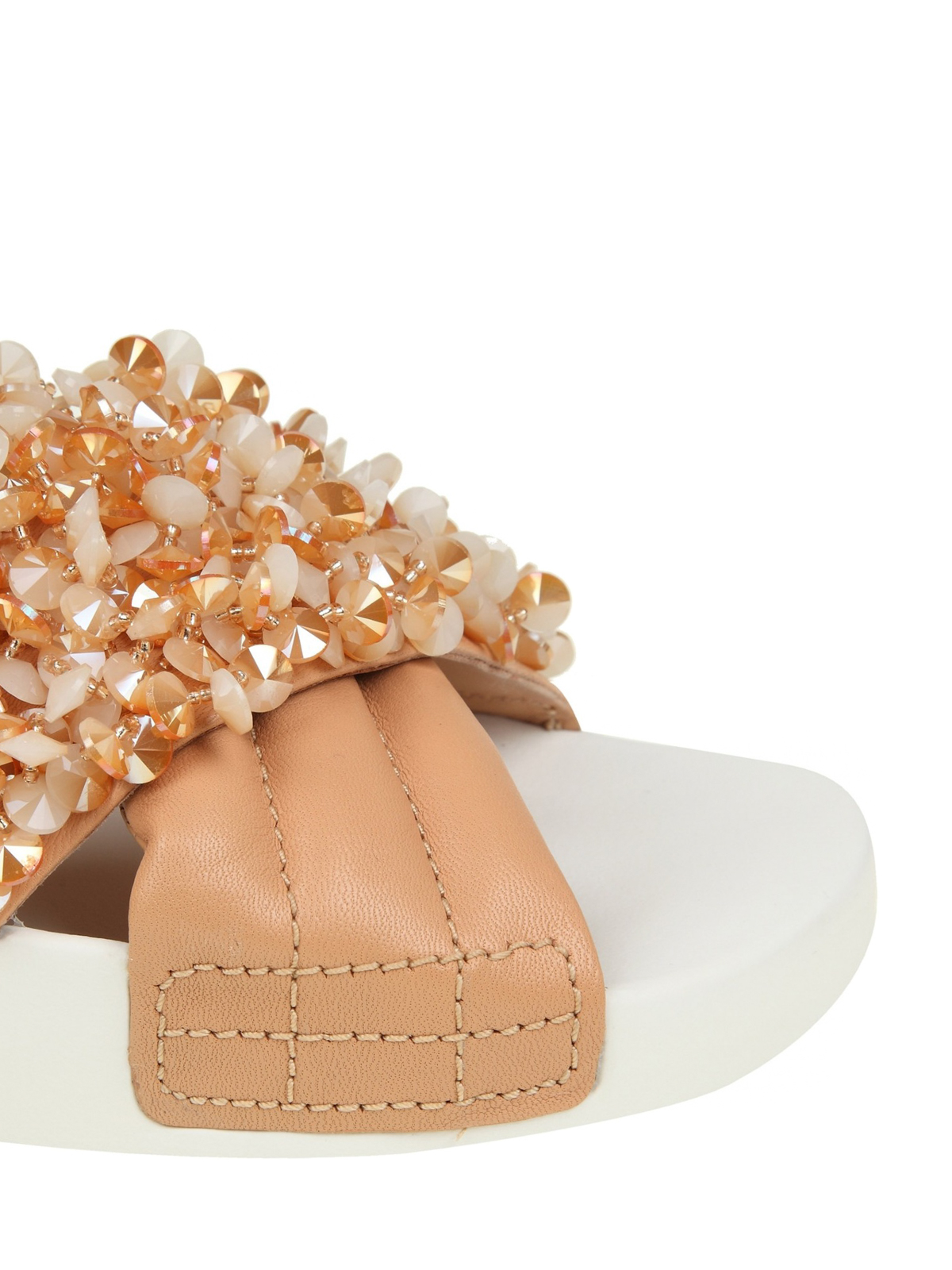 a8cf904d7e9 Tory Burch - Logan embellished nude slides - sandals - 46713217