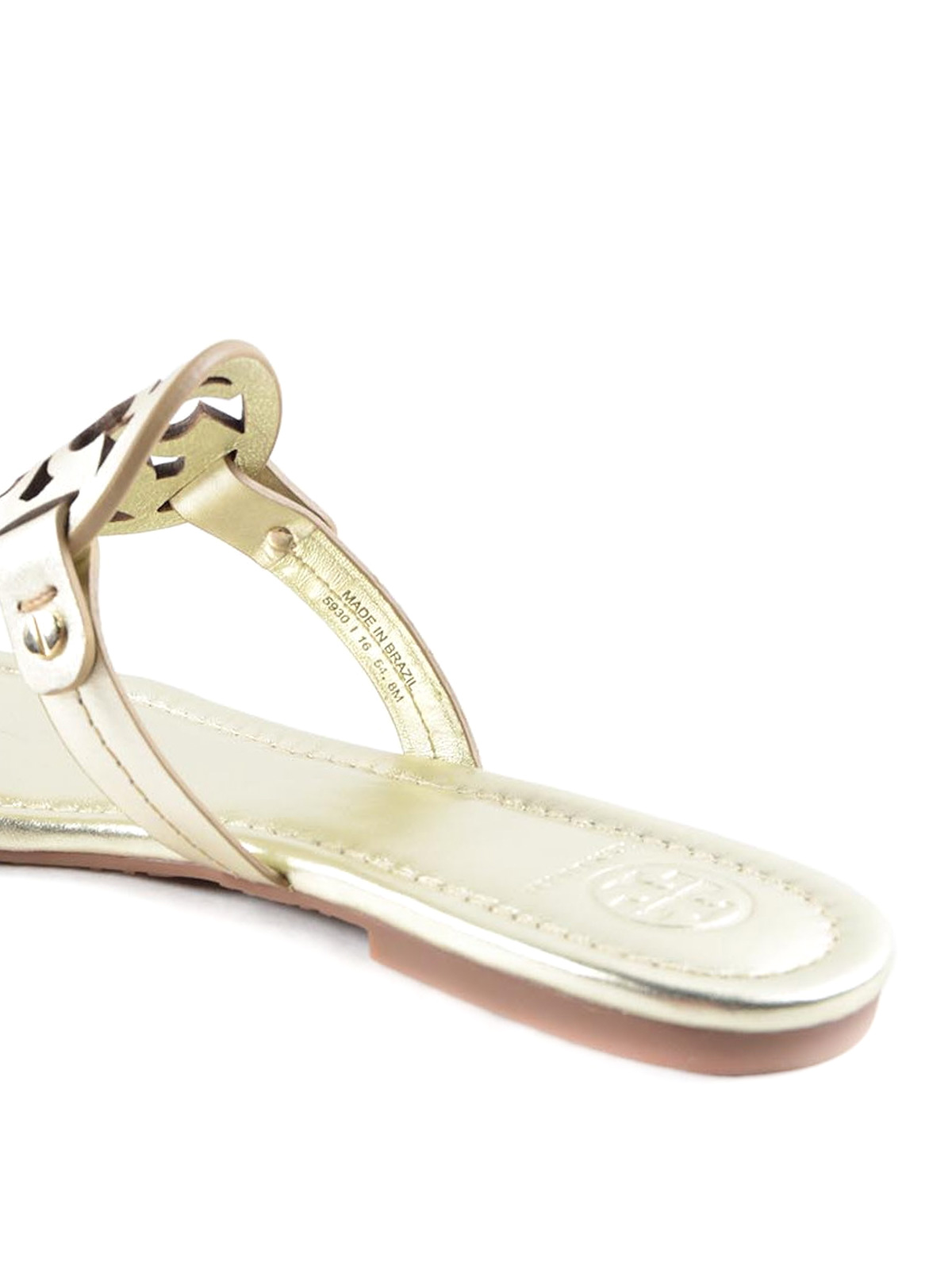dc17106da516c Tory Burch - Miller leather thong sandals - sandals - 36540 723