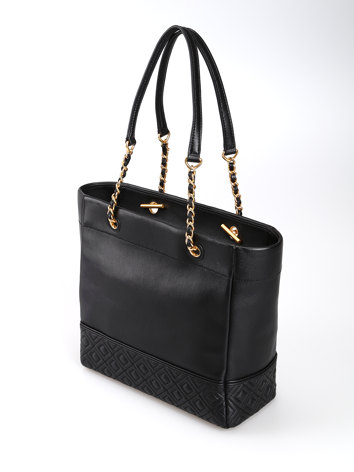 2c46c2486ed iKRIX TORY BURCH: totes bags - Fleming golden chain black leather tote bag