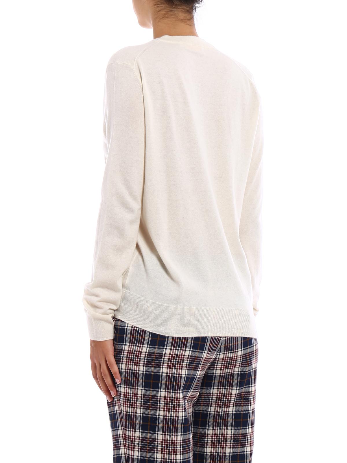 a23de4b2bed Tory Burch - Marilyn ivory cashmere sweater - v necks - 40724104