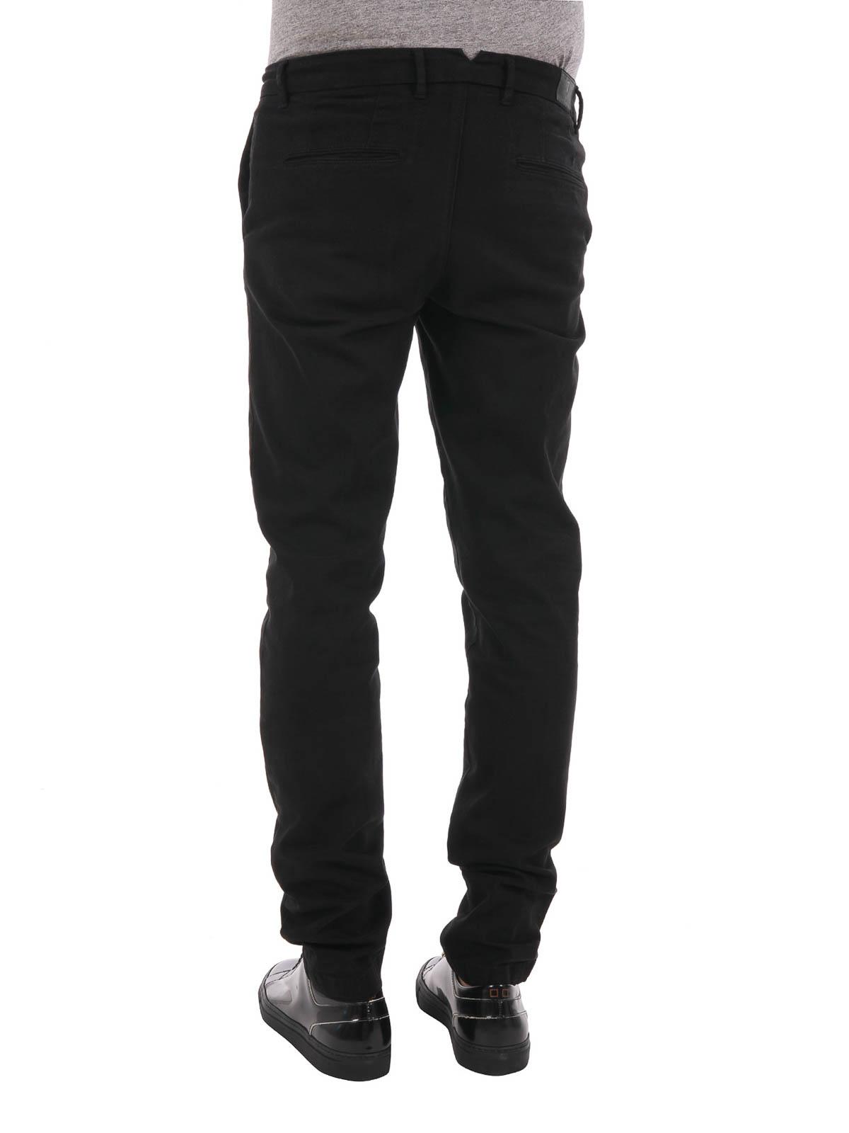 21e3da191c8 iKRIX TRUSSARDI: Pantalones casual - Pantalón De Traje Negro Para Hombre