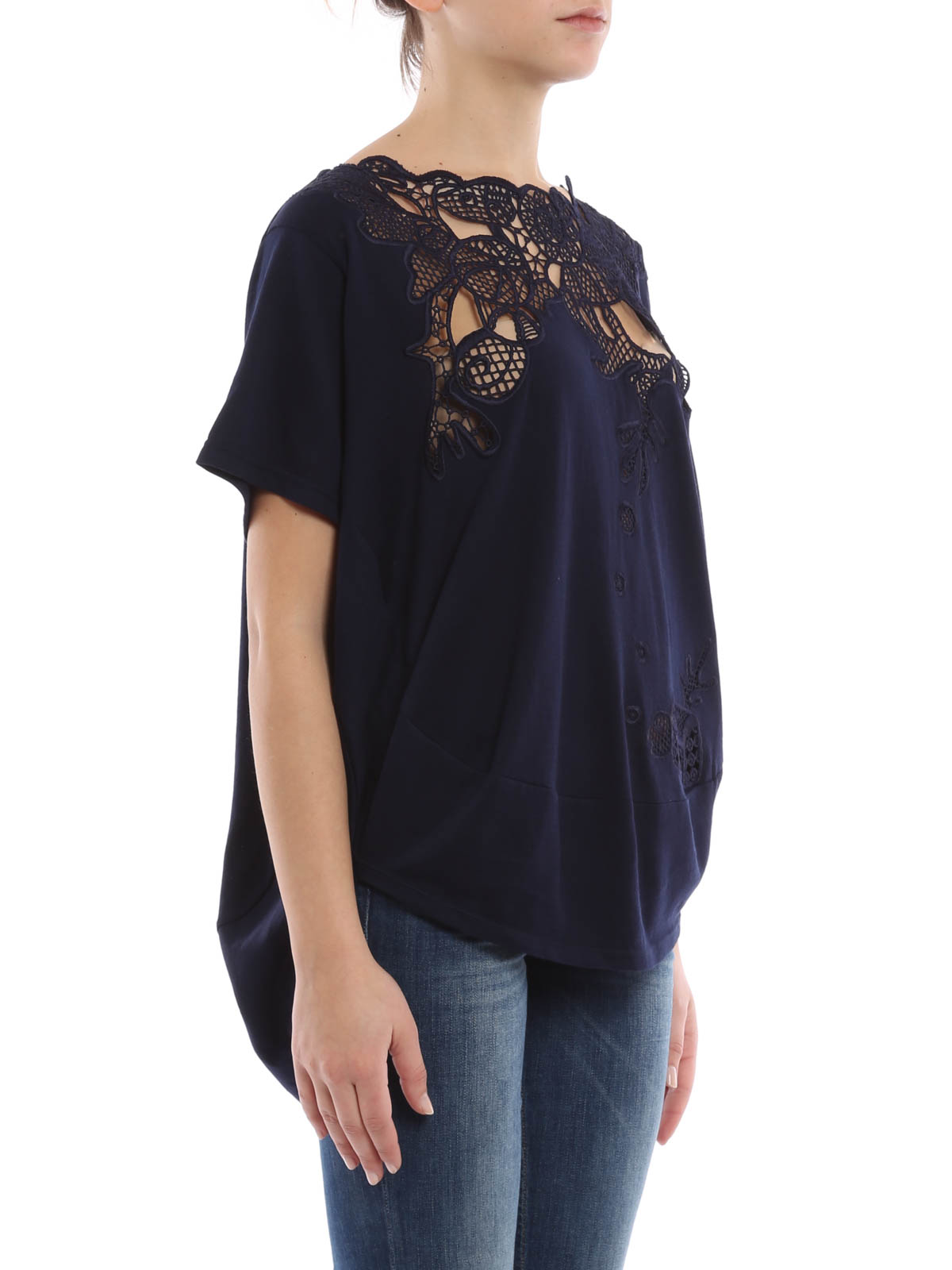 Embroidered t shirt by tsumori chisato t shirts shop for How to embroider t shirts