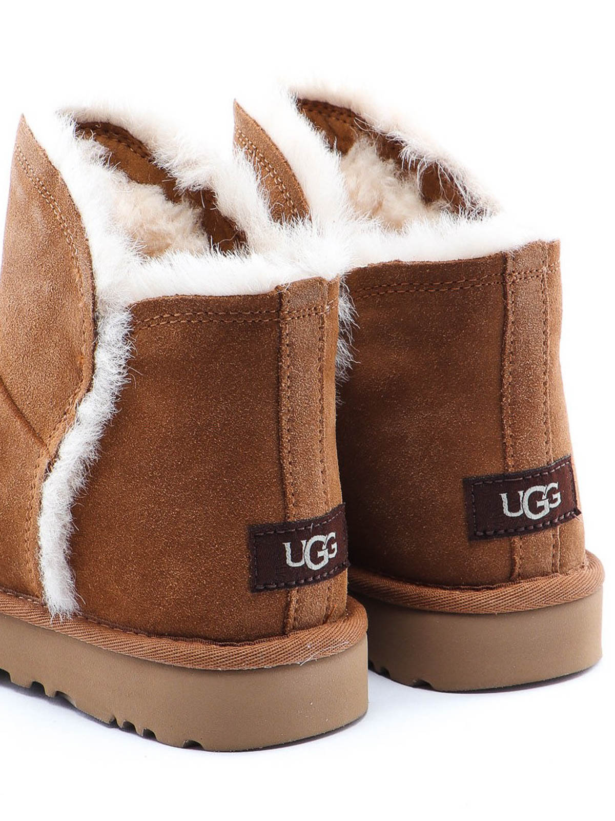 Ugg Ugg Classic Mini Fluff High Low Ankle Boot, Chestnut
