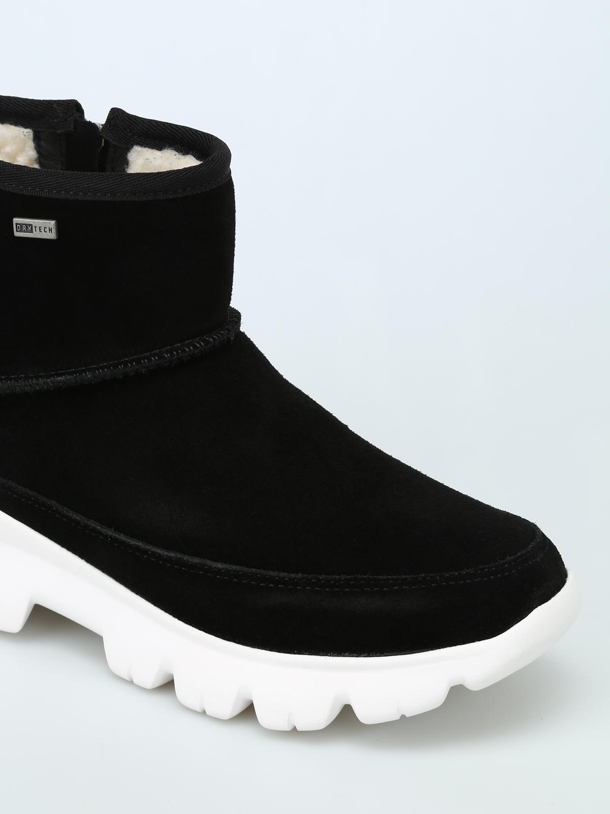 waterproof suede booties - ankle boots