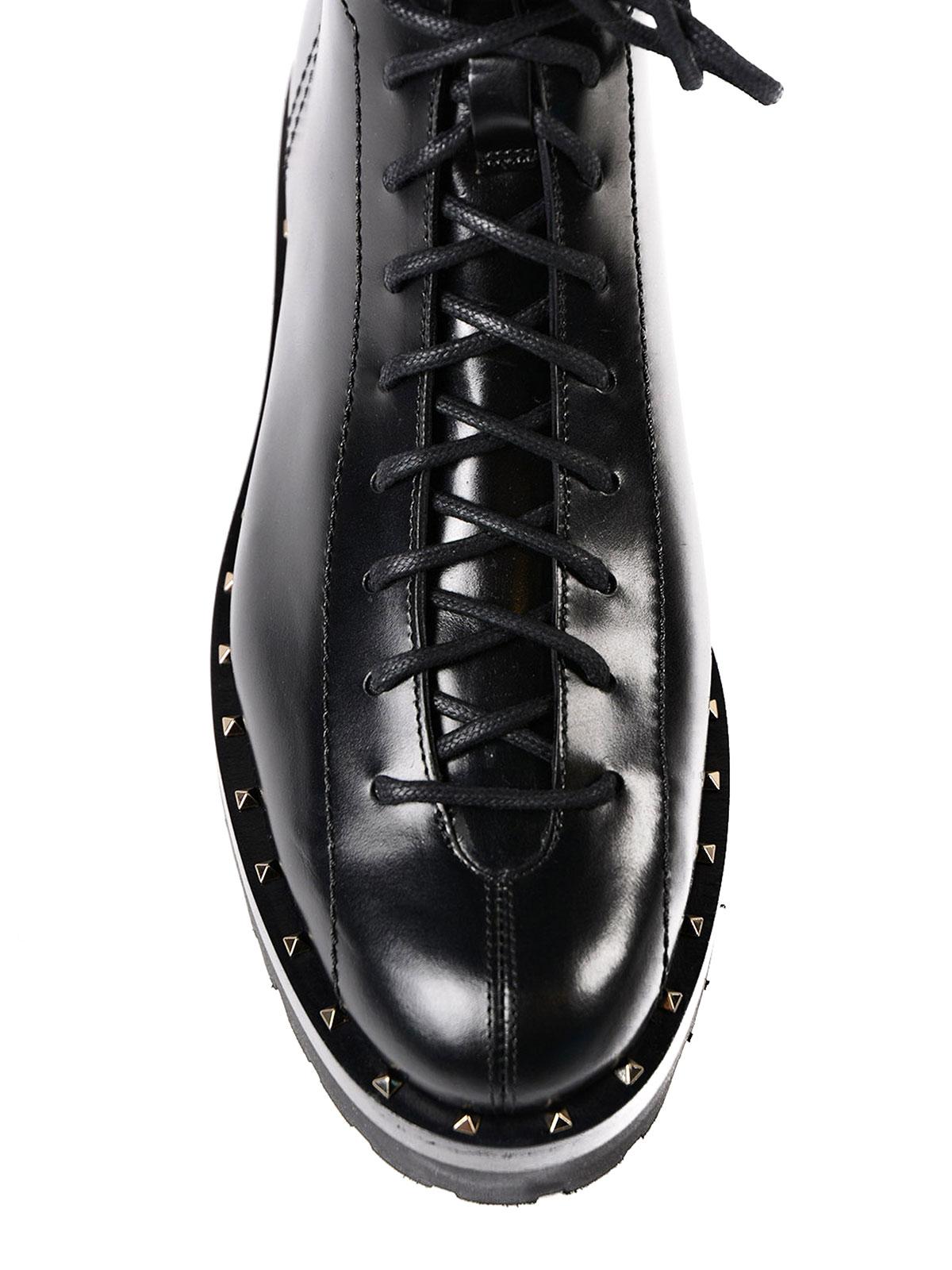 731a7717ebbec9 iKRIX VALENTINO GARAVANI  ankle boots - Soul Rockstud leather combat boots