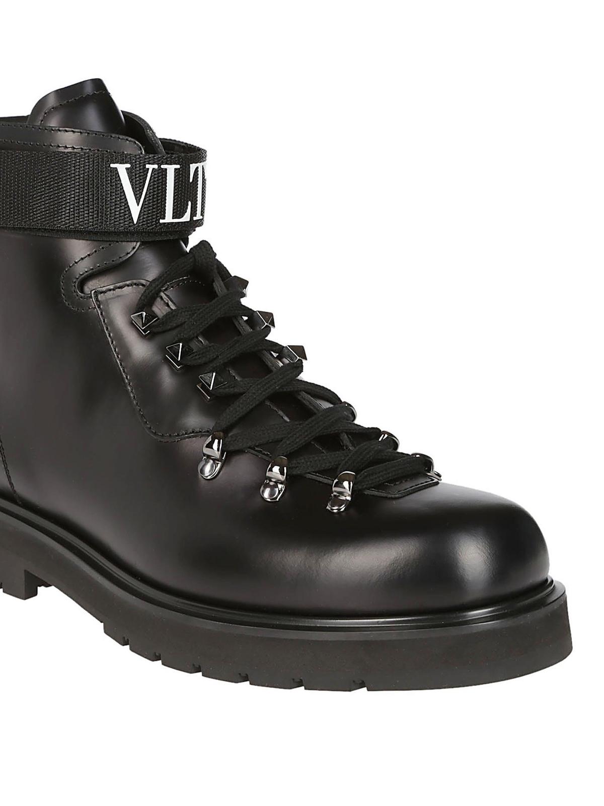 34afd2f22df Valentino Garavani - VLTN leather ankle boots - ankle boots ...