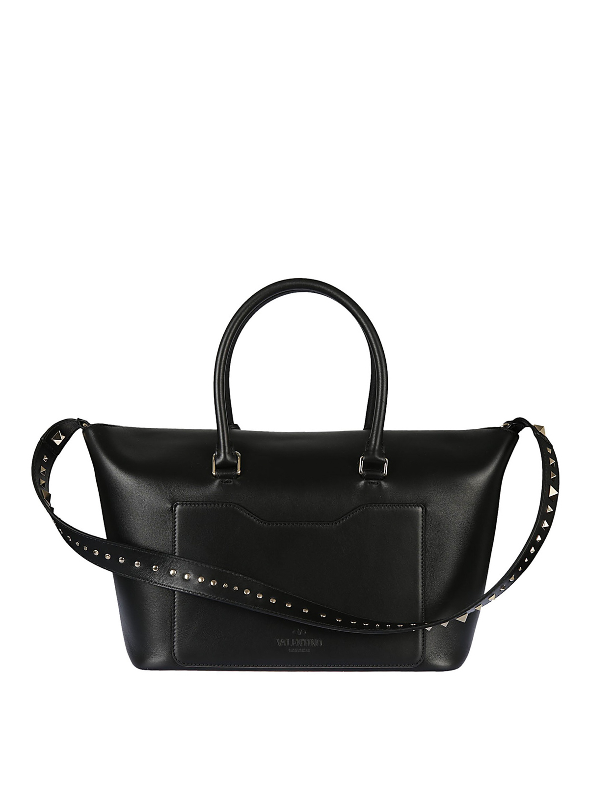 db3761c29b68 iKRIX VALENTINO GARAVANI  bowling bags - Demilune black leather satchel