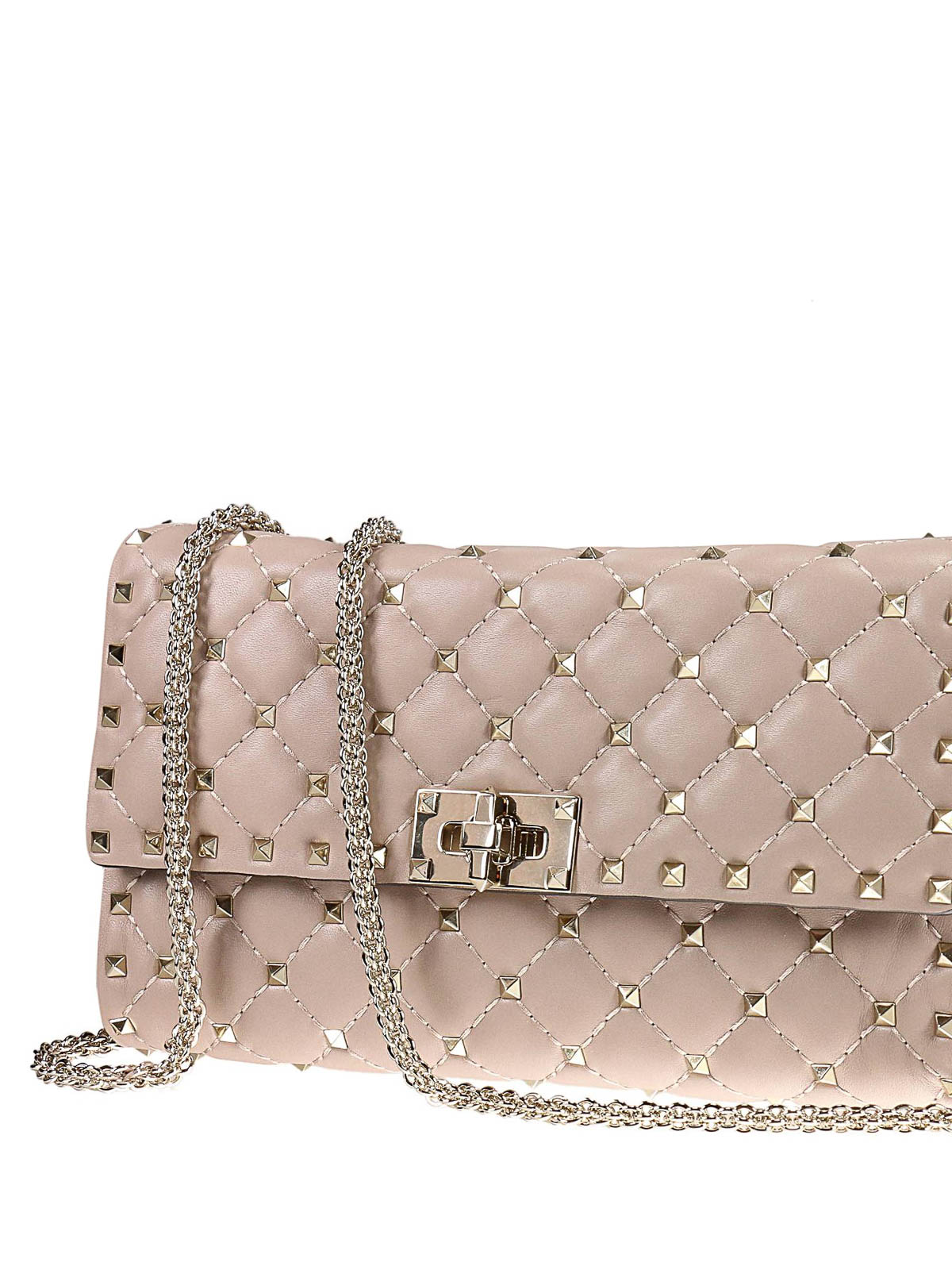 Rockstud Spike quilted-leather clutch Valentino