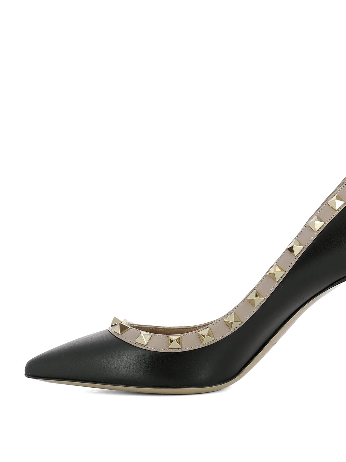 c02fa4d4ee5 iKRIX VALENTINO GARAVANI  court shoes - Rockstud black leather pumps