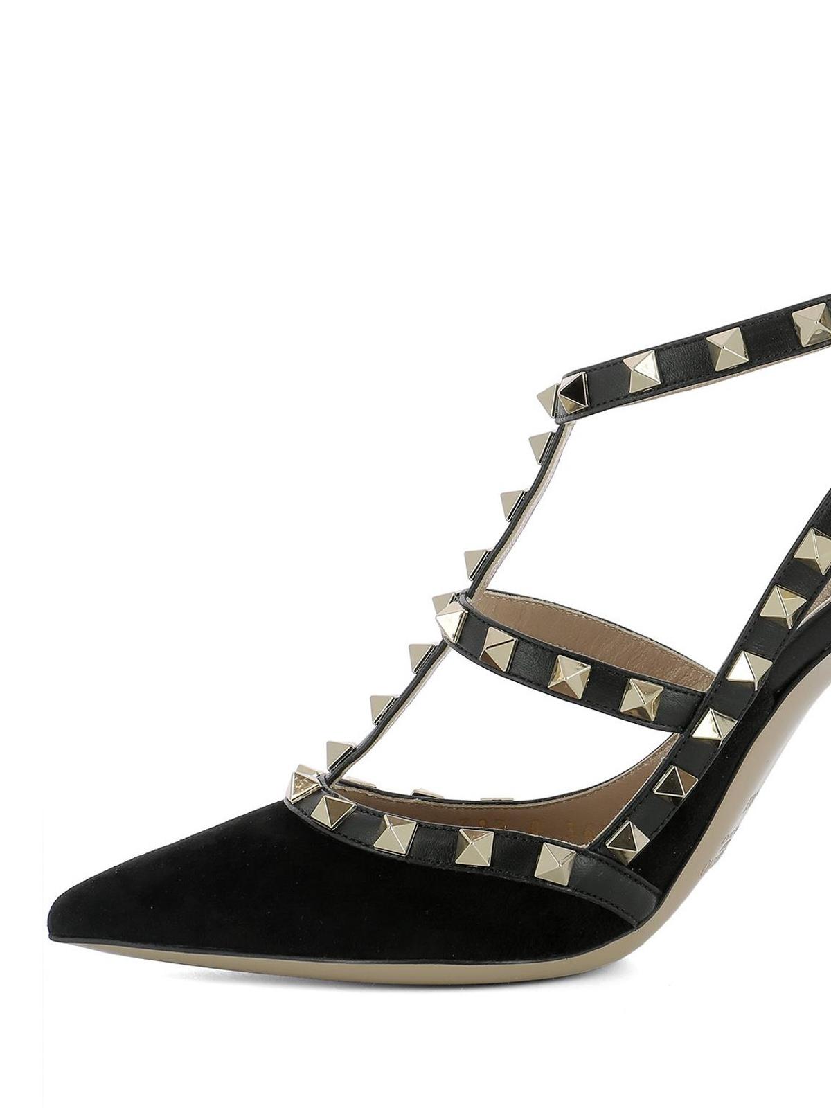 203cb9be8b5ab iKRIX VALENTINO GARAVANI: court shoes - Rockstud black suede pumps