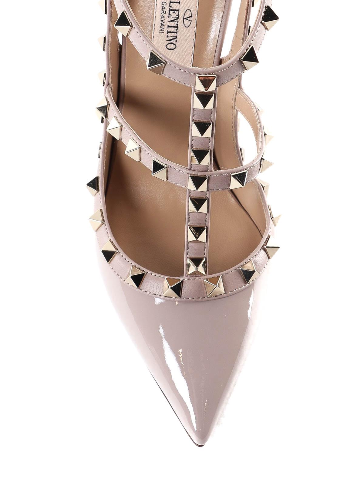 28a41fca788 iKRIX VALENTINO GARAVANI  court shoes - Rockstud patent leather slingbacks