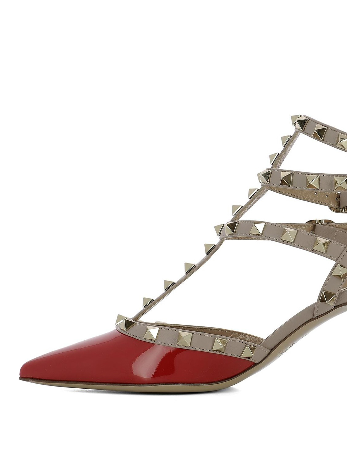 ab0b2c1fbfd iKRIX VALENTINO GARAVANI  court shoes - Rockstud red patent leather sandals
