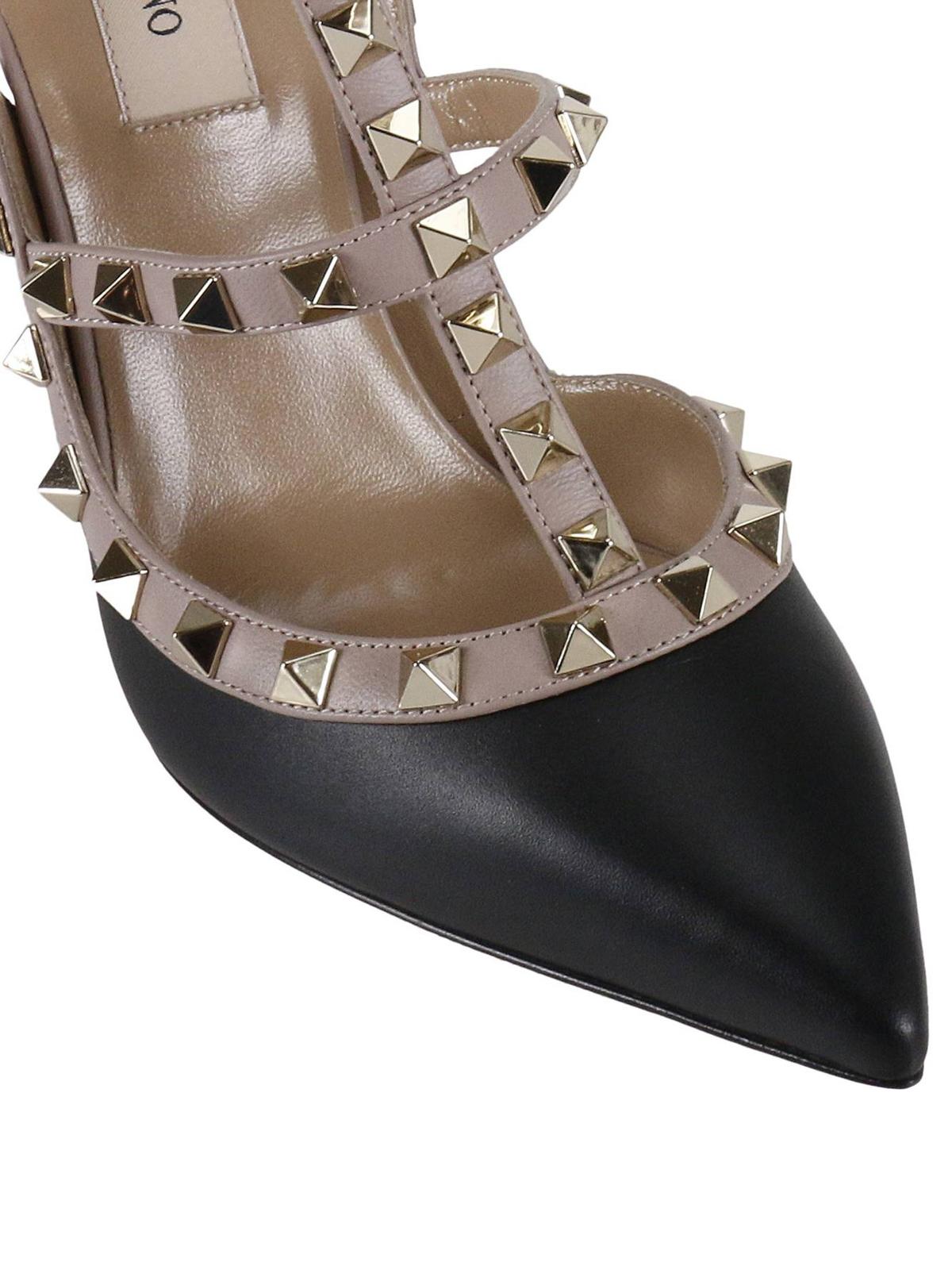 f2ea0bd4d53 iKRIX VALENTINO GARAVANI  court shoes - Rockstud two-tone slingback pumps