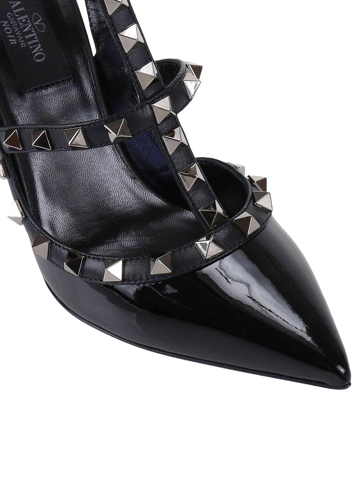 aebc8a93280 iKRIX VALENTINO GARAVANI  court shoes - Rockstud varnished slingback pumps