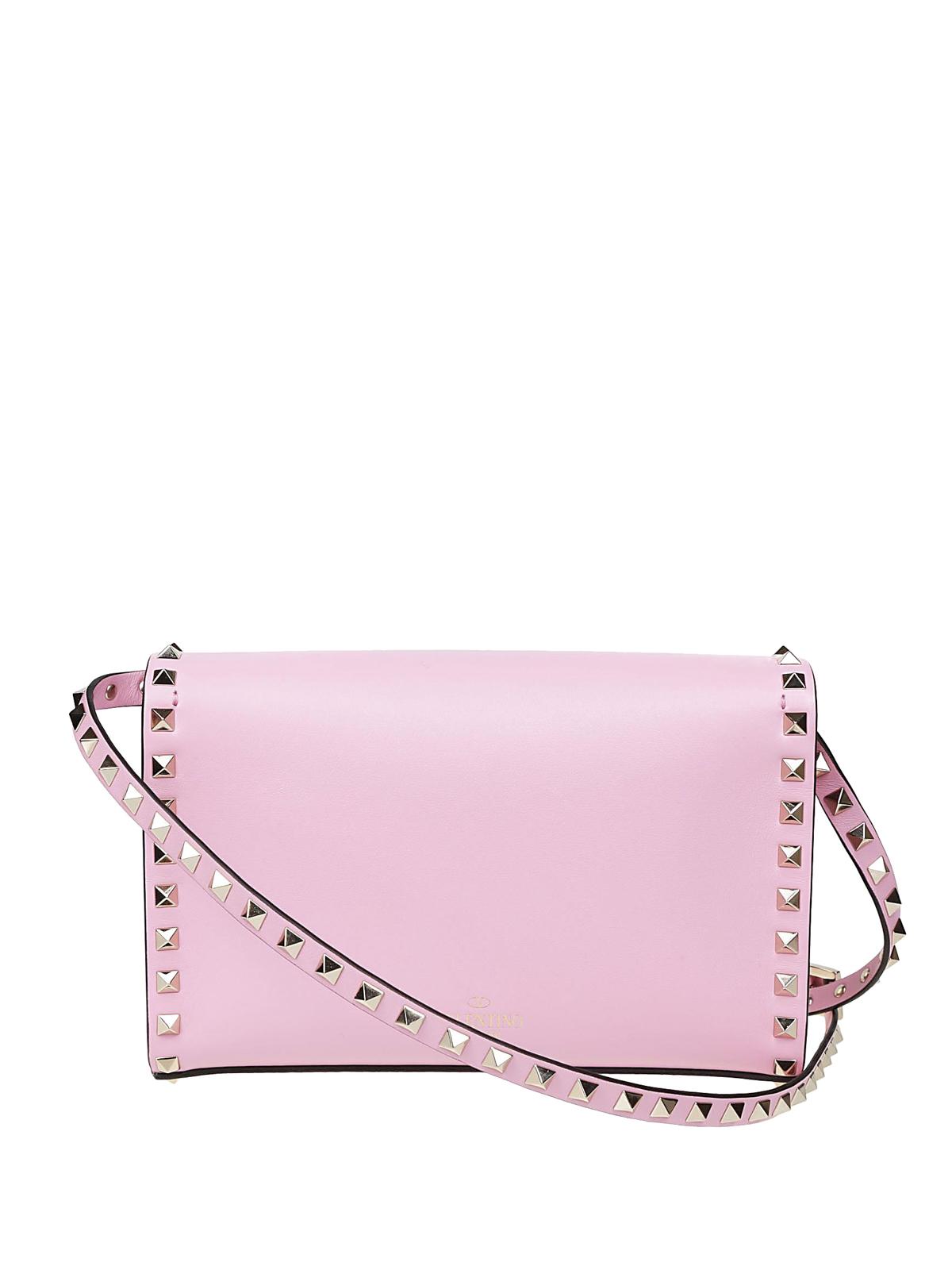 390b81a7c534 iKRIX VALENTINO GARAVANI  cross body bags - Rockstud pink smooth leather  small bag