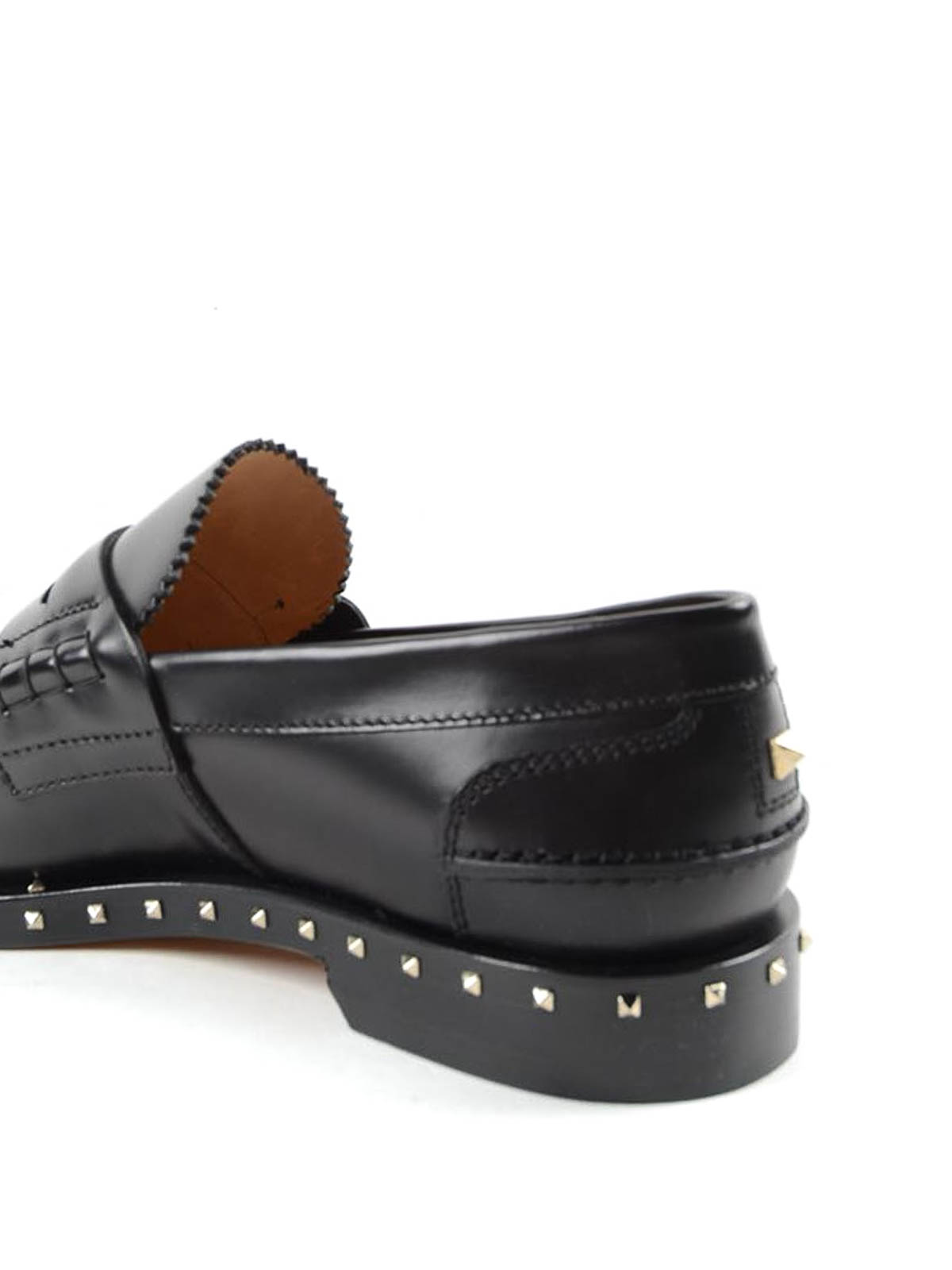 efa5a79f8a7c0 iKRIX VALENTINO GARAVANI: Loafers & Slippers - Rockstud leather penny  loafers