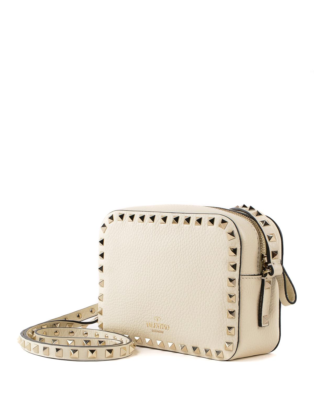 36ba5050f267 iKRIX VALENTINO GARAVANI  shoulder bags - Rockstud light ivory leather  camera bag