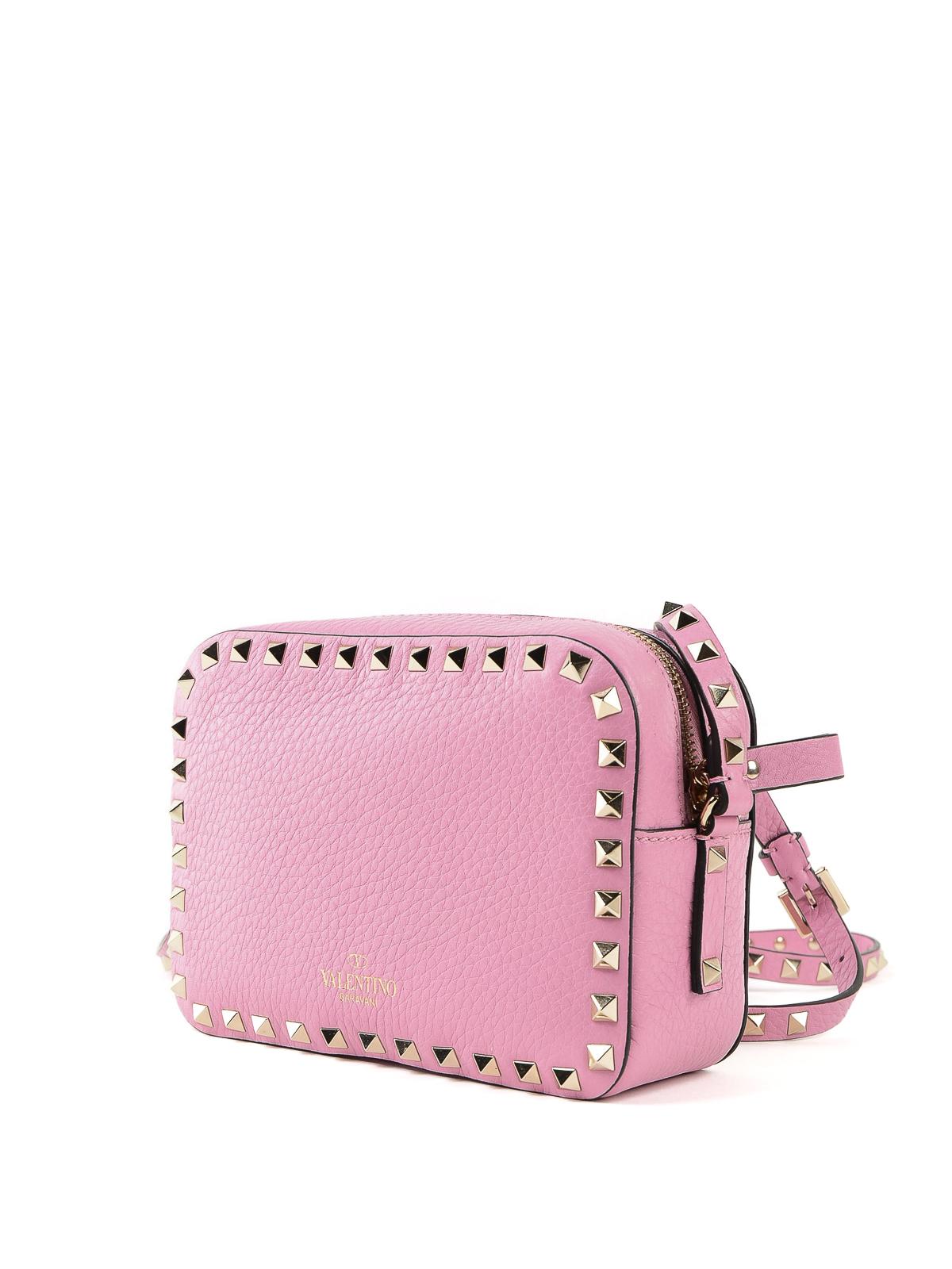 f541ebec51 iKRIX VALENTINO GARAVANI: shoulder bags - Rockstud pink leather camera bag