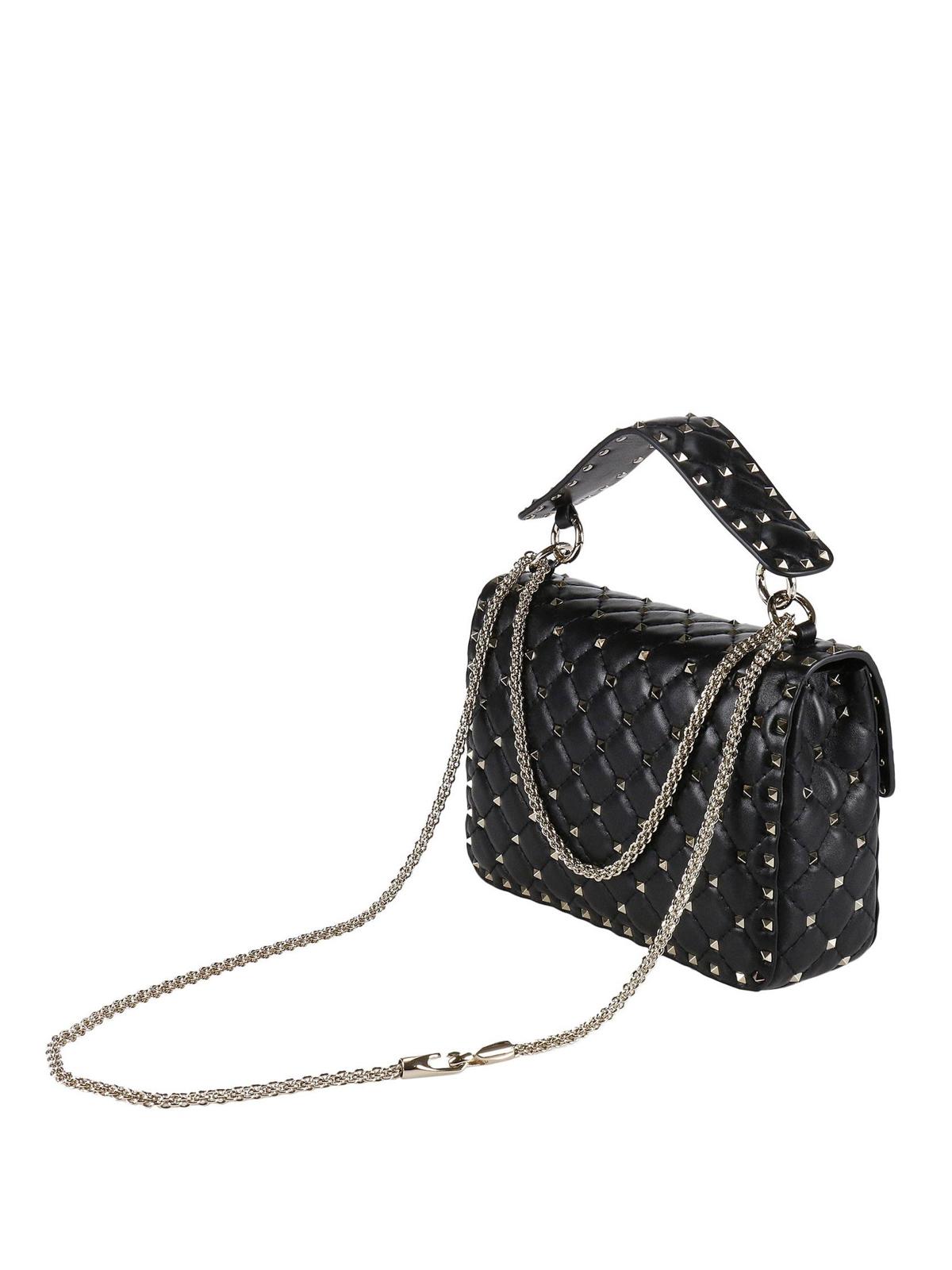 7fd4b68a0c iKRIX VALENTINO GARAVANI: shoulder bags - Rockstud Spike medium quilted bag