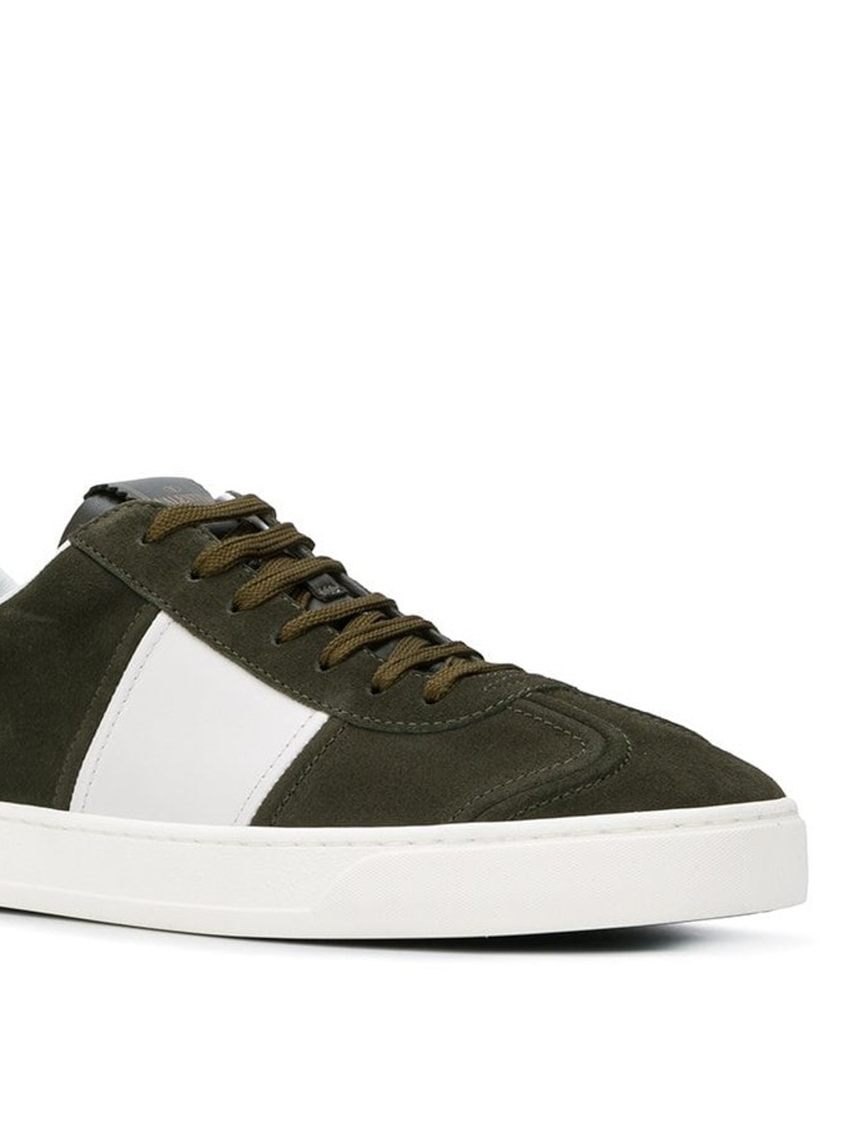 5893c7e05029f iKRIX VALENTINO GARAVANI: trainers - Flycrew green suede sneakers