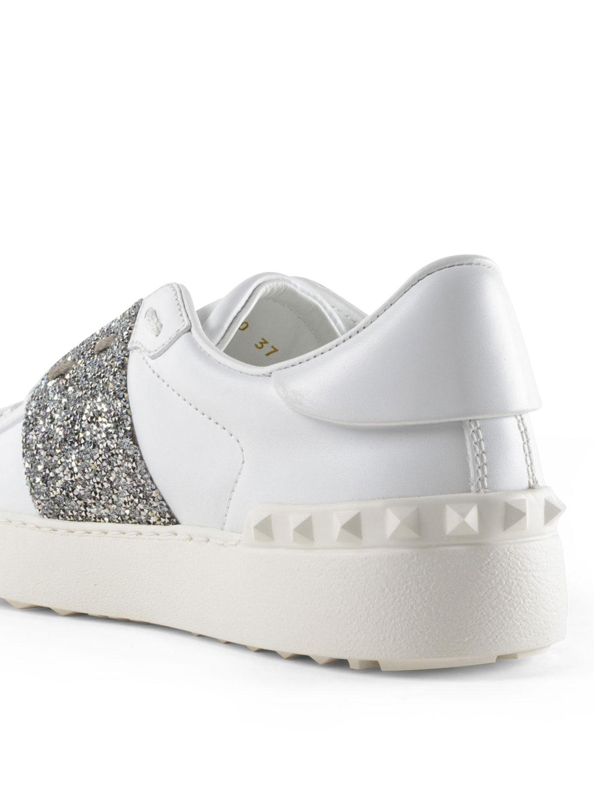 iKRIX VALENTINO GARAVANI  sneakers - Sneaker Open con banda glitter argento 3ea2624aa1a