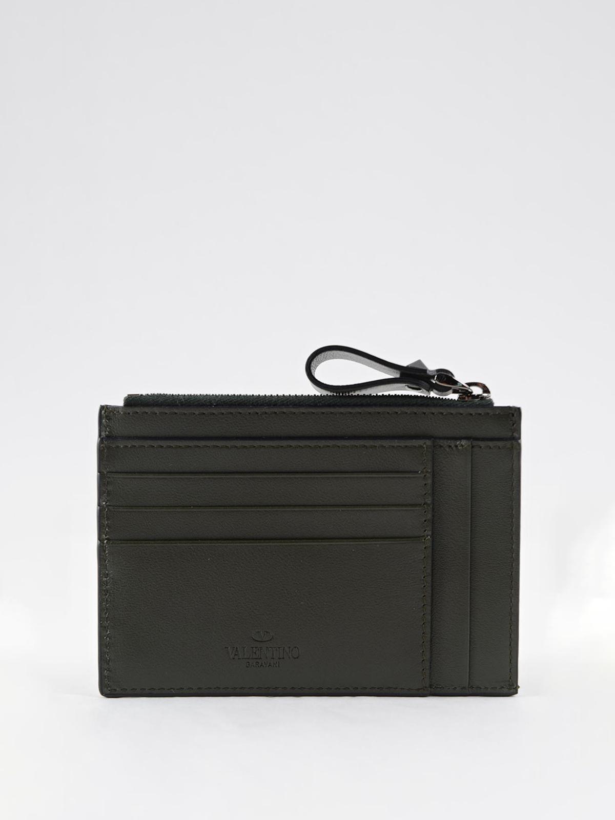 4c160fd05b8d7 iKRIX VALENTINO GARAVANI: wallets & purses - Studded detailed zipped card  holder