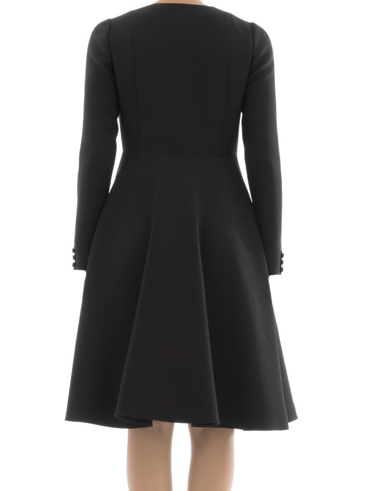 knielanges kleid schwarz von valentino knielange kleider ikrix. Black Bedroom Furniture Sets. Home Design Ideas