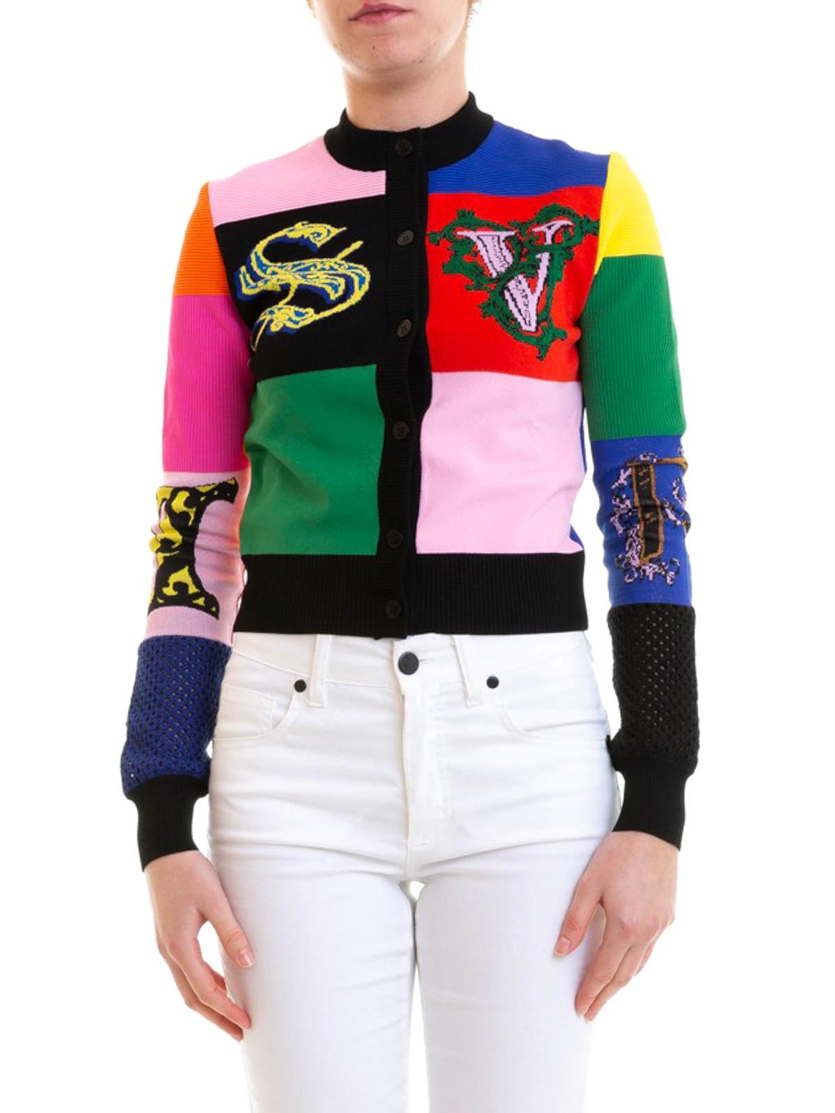 05fe29535a Versace - Multicolour viscose blend cardigan - cardigans - A81766 ...