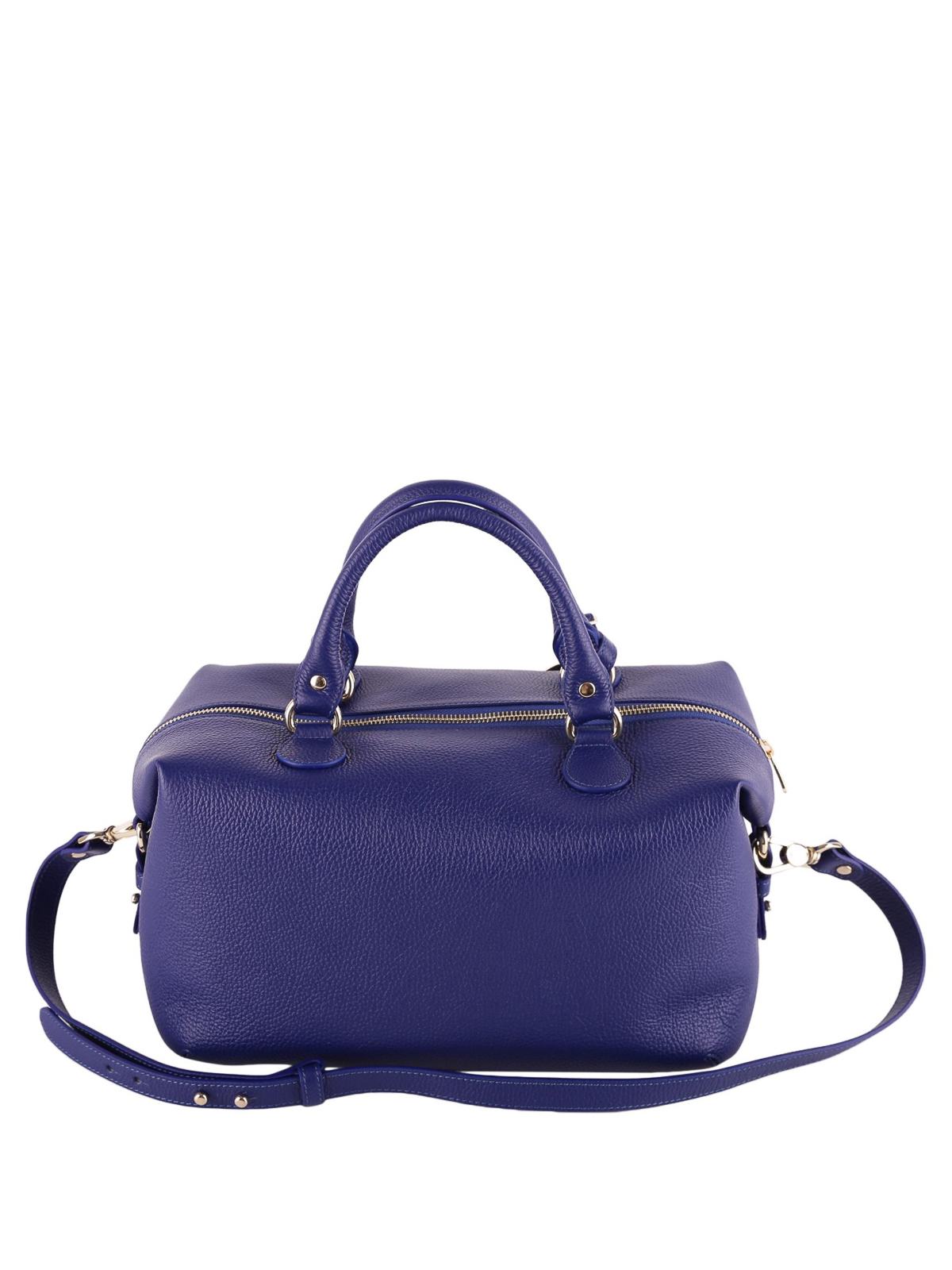 84379e201545 iKRIX VERSACE COLLECTION  bowling bags - Blue hammered leather bowling bag