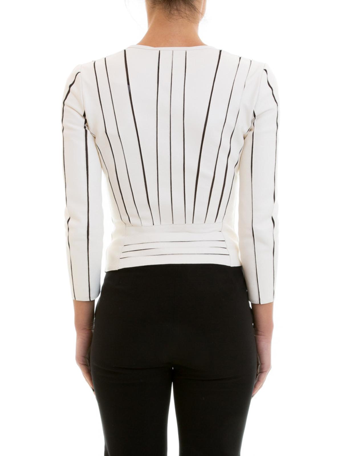 iKRIX VERSACE COLLECTION  Vestes en cuir - Manteau En Cuir Blanc Pour Femme d71f9249906