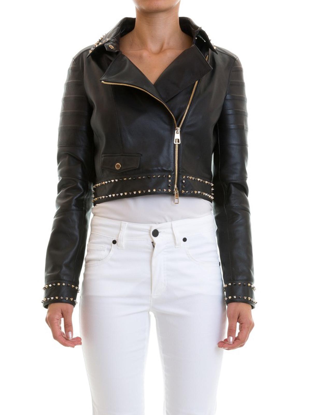 promo code 0f99c eeb34 Versace Collection - Chiodo in pelle con borchie - giacche ...