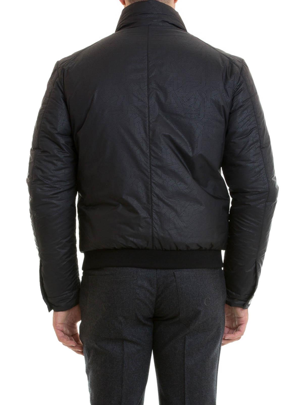 Noir Vestes Versace Homme Pour Collection Manteau Rembourré x0nUw7Ofq