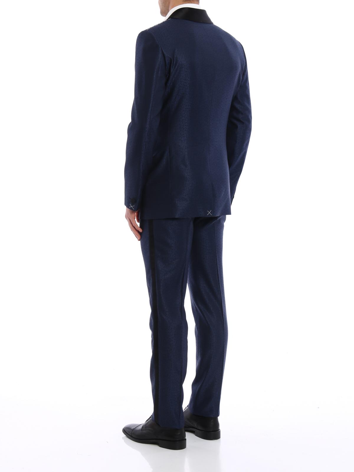 iKRIX VERSACE  Costumes de soirée - Costume Bleu Foncé Pour Homme 880d1cf1a39