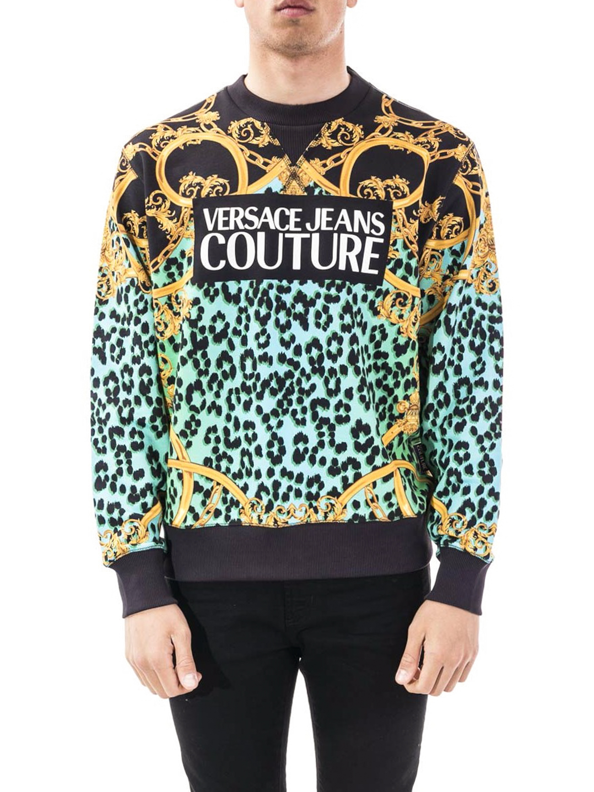 Versace Jeans Couture Barocco Stampa Felpa