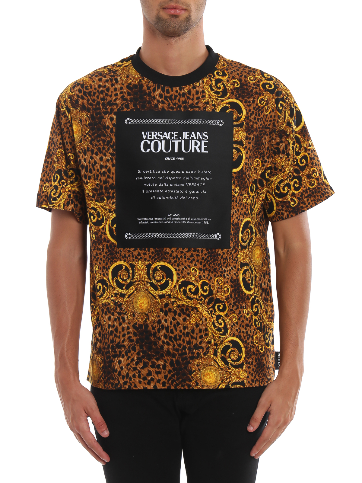 Versace Jeans Couture T shirt con stampa Barocco